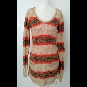 Ashley by International Multicolor Striped Sweater